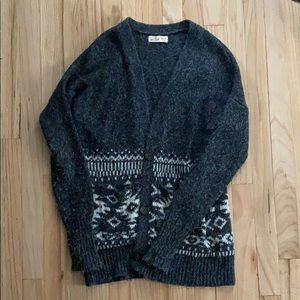 Hollister fair isle grandpa cardigan